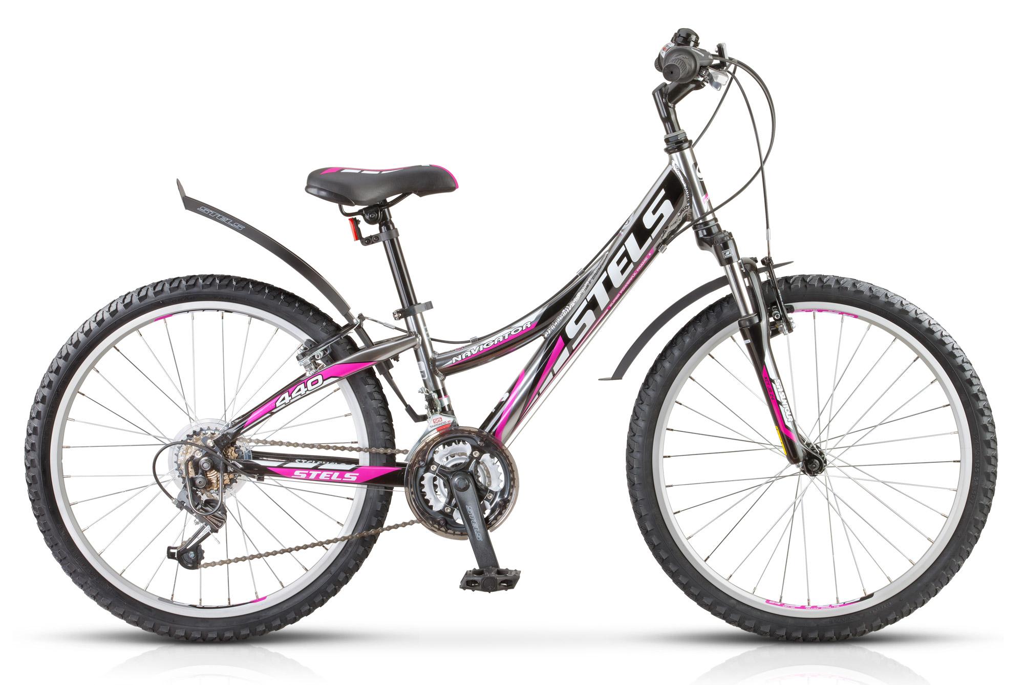 Велосипед Stels Navigator-440 V 24.15Велосипеды Stels<br>Подростковый горный велосипед Navigator 440, со специально разработанной рамой особой геометрии, подходит как для мальчиков, так и для девочек. Регулируемое по уровню высоты седло. Также одним из достоинств Навигатор 440 является облегченная алюминиевая р...<br>