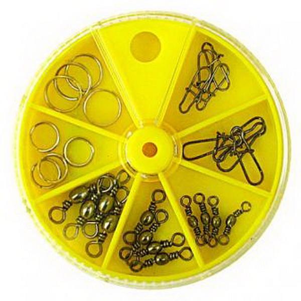 Купить Набор Lucky John вертлюги, застежки, заводные кодьца 28шт. в России