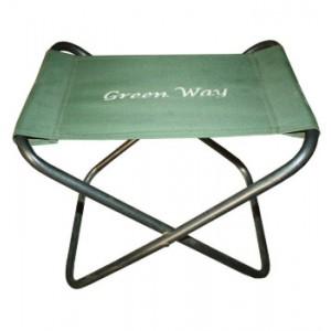 Табурет GreenWay 30МСтулья, кресла складные<br>Складной табурет. Табурет легко складывается и раскладывается, имеет малый вес. Выдерживает нагрузку до 90 кг.<br>