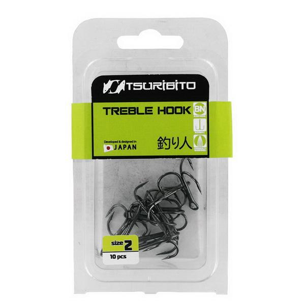 Тройники Tsuribito Treble Hook №14 ( в упак. 10шт.) (BN)Тройники<br>Тройник изготовлен из высокопрочной стали, которая закаливается по особой технологии. Кончики обработаны лазерной заточкой, что придало им идеальную остроту.<br>