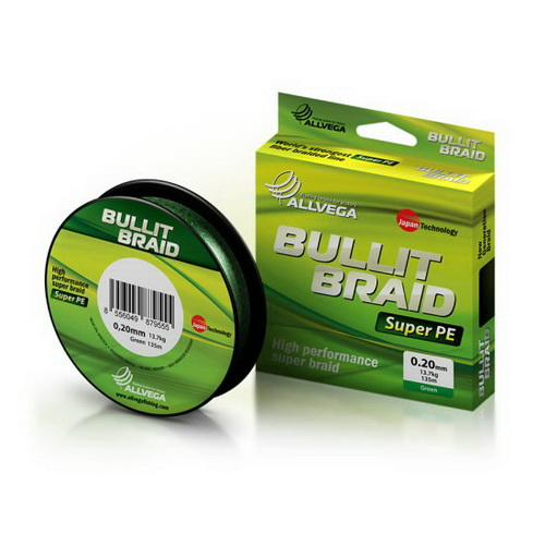 Леска плетеная Bullit Braid 135м #0.18 (темно-зеленая) (53623)Плетеные шнуры<br>Профессиональная леска, вполне доступная по цене - не уступает по качеству самым дорогим аналогам благодаря новым технологиям и внимательному отношению производителя к нуждам рыболовов.<br>