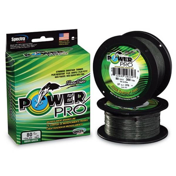Леска плетеная Power Pro 275м Moss Grey