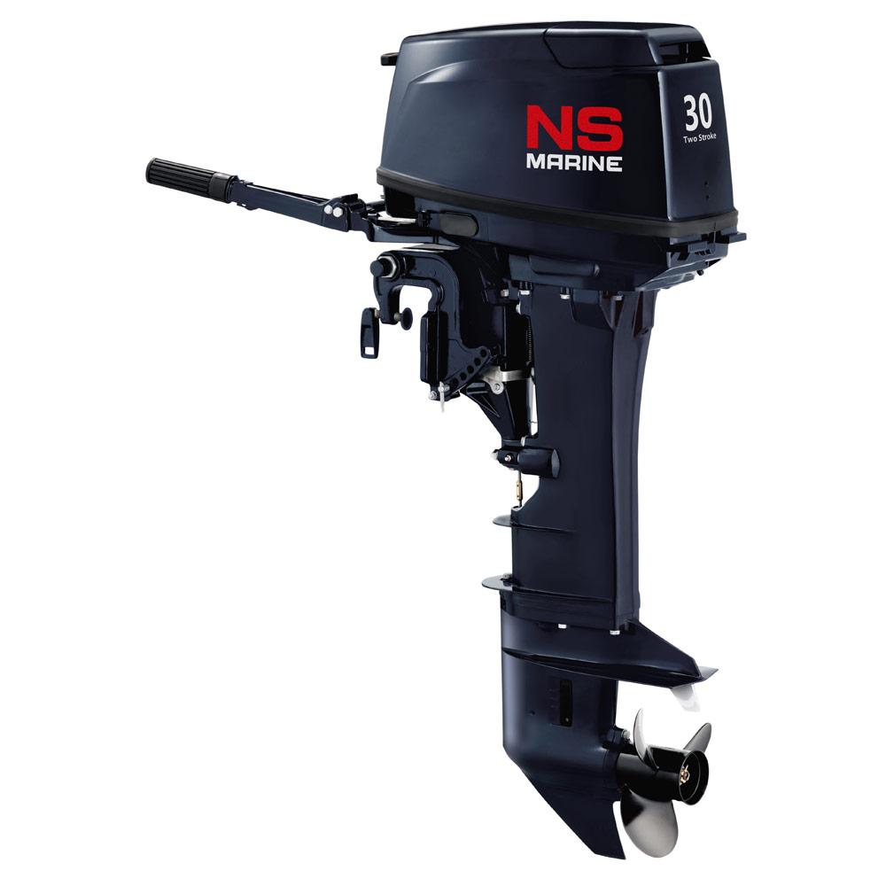 Лодочный мотор 2-х тактный NS Marine NM 30 H EPSПодвесные моторы<br>Для поклонников простых и отработанных конструкций Nissan Marine предлагает двухтактный двухцилиндровый мотор Nissan Marine с увеличенной мощностью 30 л.с.<br>