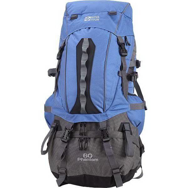 Рюкзак NovaTour Фантом 60 (синий/клетка)Рюкзаки<br>Отличная идея для тех, кто постоянно пользуется ноутбуком.<br>