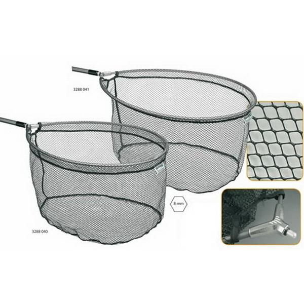 Подсачек Spro Net Spoon 8мм. 60X50X30 Alu RuberПодсачеки<br>Идеальная модель с резиновым покрытием, в форме ложки, сачок с сеткой 5 мм и 8 мм. Компания - производитель гарантирует эффективность и надёжность предлагаемого товара.<br>