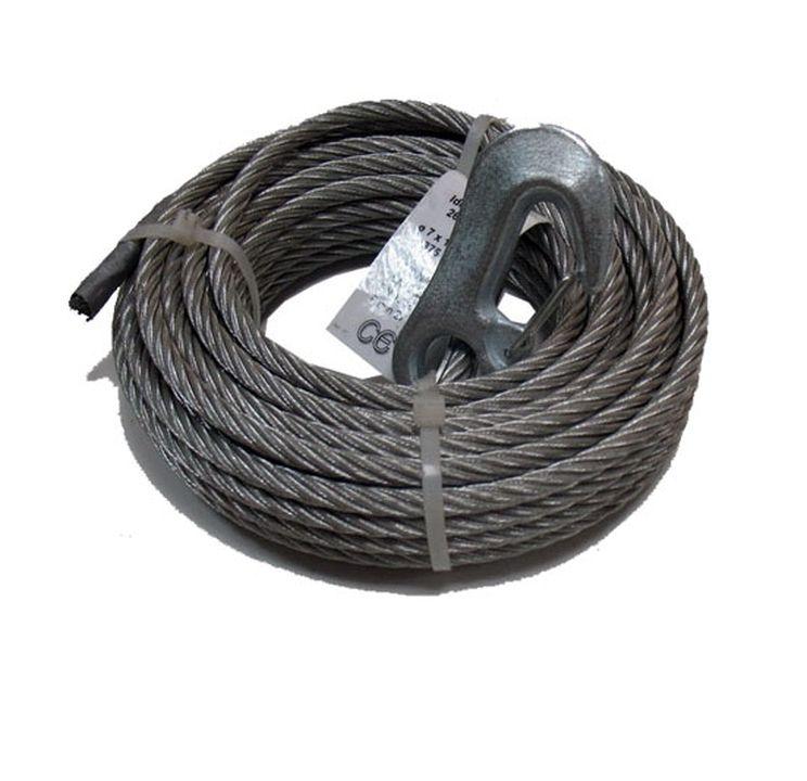 Трос AL-KO для лебедки тип 900 (12,5м) d7 1730140Колеса<br>Максимальная нагрузка, воспринимаемая тросом AL-KO для лебедки типа 900, составляет 900 килограммов. Длина лебедочного троса составляет 12.5 метров, диаметр – 7 мм.<br>