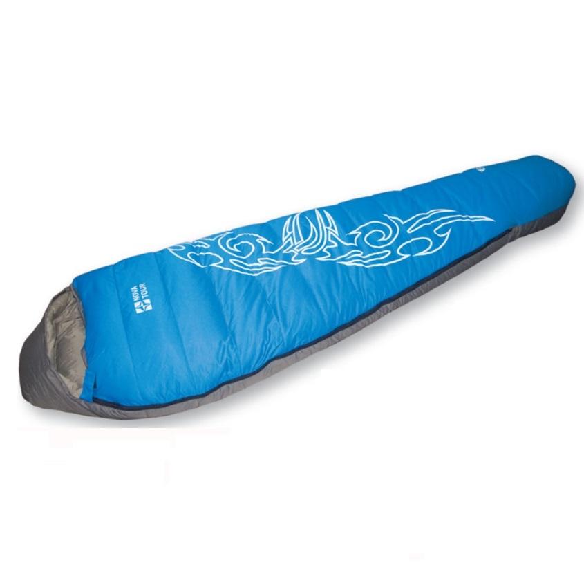 Спальный мешок NovaTour пуховый Окси Серый/голубой