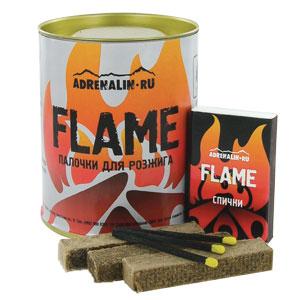Палочки для розжига AdrenalinПредметы розжига<br>Особенности:<br><br><br>- спички в комплекте;<br>- для розжига угля и дров в костре;<br>- не боятся воды и сырости; <br>- горят 10 – 15 минут;<br>- изготовлены из мягкой древесины, пропитанной смесью высококачественных парафинов;<br>- дают равномерное пламя, без запаха, ...<br>