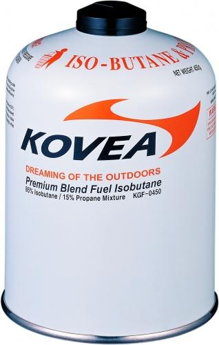 Баллон газовый резьбовой Kovea 450Газ<br>Резьбовой газовый баллон наполнен высокопроизводительной газовой изопропановой смесью составом: изобутан 72%, пропан 22%, бутан 6%<br>