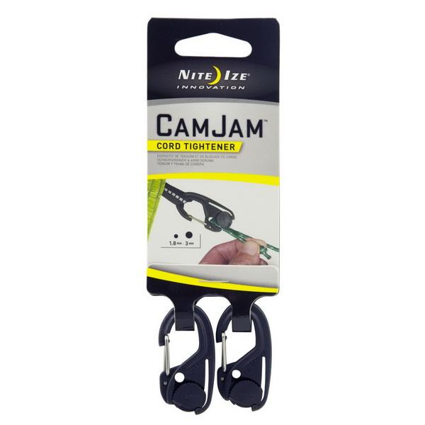 Крепление NiteIze для веревки CamJam, размер S, 2 шт.Брелоки и карабины<br>Крепление для веревки Nite Ize CamJam предлагает простой способ затянуть, натянуть или закрепить шнур с легким грузом любого типа. Размер S подходит для узких шнуров от 1.8мм до 3мм в диаметре.<br>