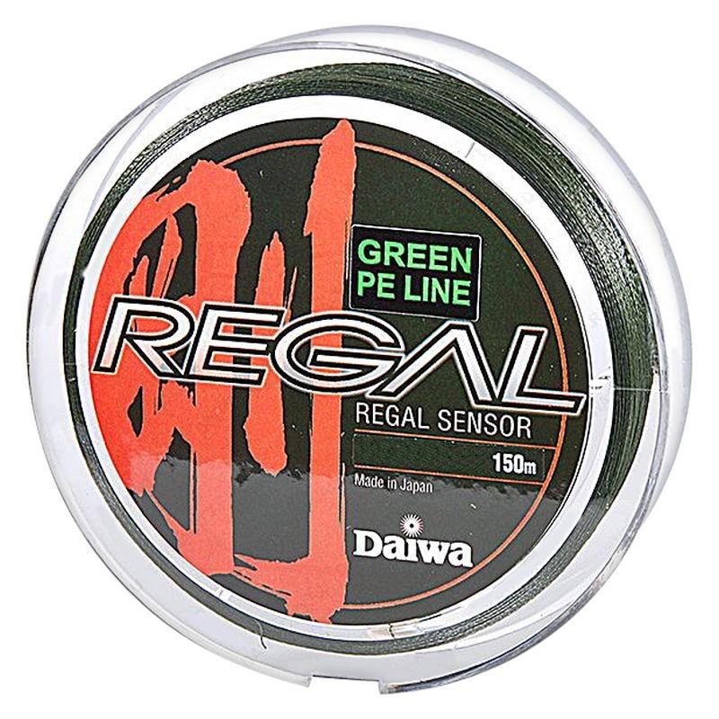 Леска плетеная Daiwa Regal Sensor 150 м greenПлетеные шнуры<br>Плетеный шнур с большим запасом прочности, и максимально круглым сечением.<br>