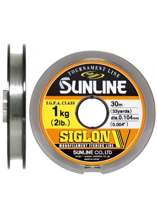 Монолеска Sunline Siglon V 30mx10 Mist Green 0.128mm 1.5kg (106645)Монофильные лески<br>Универсальная леска высокого качества. Леска Sunline Siglon стала еще более прочной и гидрофобной, благодаря химическому составу с содержанием молекул смол. Леска имеет специальное покрытие, противостоящее высыханию и потери эластичности.<br>