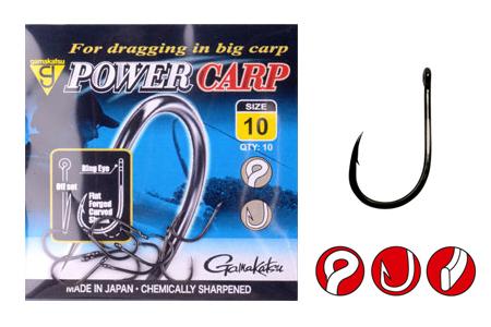 Крючок Gamakatsu Power Carp Ring Eye NSBОдинарные крючки<br>Крючки серии Power Carp разрабатывались специально для ловли трофейных рыб семейства карповых на волосяные оснастки с такими насадками, как небольшие бойлы, пеллетс и кукуруза.<br>