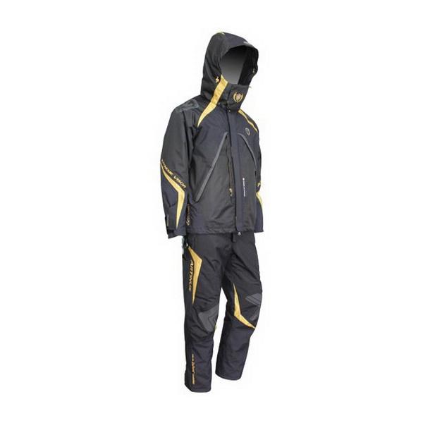 Костюм Artinus непром.3 слойный многофункц.Teflon Supplex B577 TO2-TEX р-р L (черн.с золот.) AR-960 (83493)Костюмы/комбинезоны<br>Рыболовные костюмы Artinus — надежная защита от дождя, ветра и снега. Отличное сочетание современного дизайна и удобства.<br>