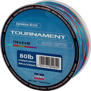 Леска Daiwa Tournament Accudepth 300-80 (19035)Плетеные шнуры<br>Леска плетеная Daiwa Tournament Accudepth - разноцветная леска, позволяет вам точно измерить глубину и длину.<br>