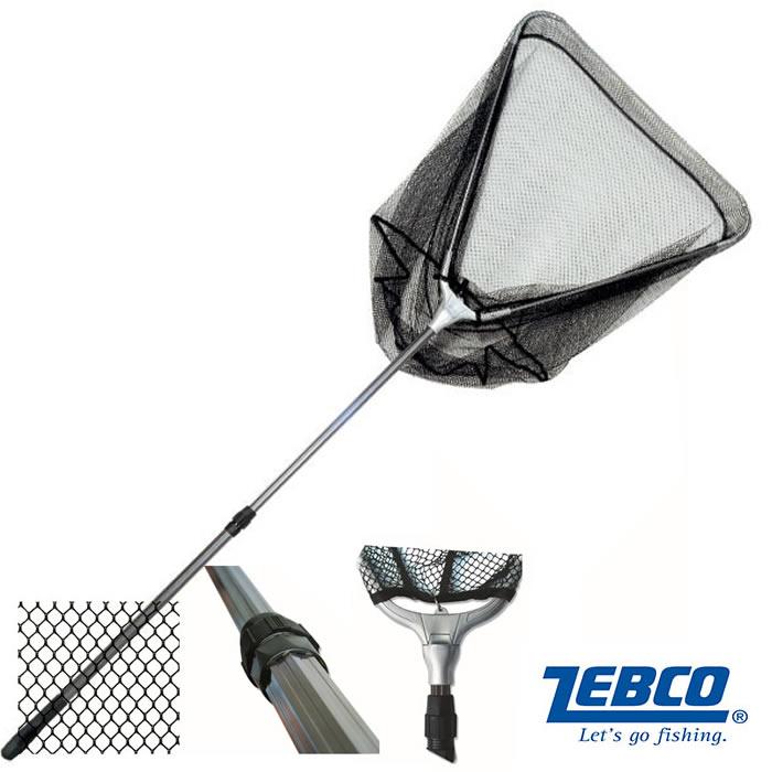 Подсачник ZEBCO Wide Mesh Tele Landing Net 8mm, сеть ПВХ (телескопическая ручка длина 2,5 м, , размер 70х60х60 см) (91352)Садки, куканы<br><br>