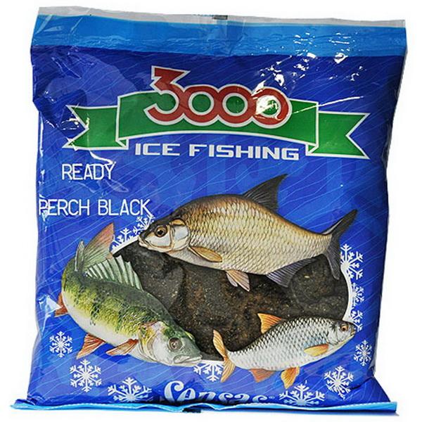 Прикормка Sensas зимняя готовая 3000 Perch Black 0,5кг