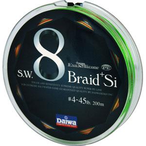 Леска Daiwa Braid + Si 45 Lb (25144)Плетеные шнуры<br>Леска плетеная Daiwa Braid + Si - восьмижильный плетеный шнур. Он изготовлен из высокомодульного полиэтилена с применением технологии Super PE + T. P. 8 Braid. Этот шнур обладает высокими показателями линейной и узловой прочности. Поставляется в размотке ...<br>