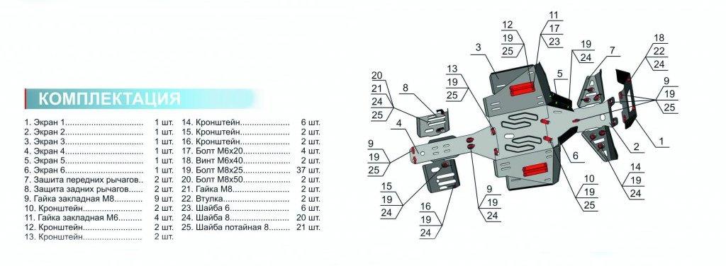 Защита Allest ATV Sportsman Touring 570 EPSЗапасные части<br>Allest - один из ведущих российских производителей современного высококачественного защитного и защитно-декоративного навесного оборудования для автомобилей и ATV-техники. Алюминиевая защита 4 мм для ATV Sportsman Touring 570 EPS, защищает днище квадроцик...<br>