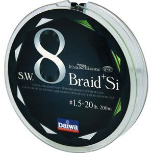Леска Daiwa Braid + Si 20 Lb (25140)Плетеные шнуры<br>Леска плетеная Daiwa Braid + Si - восьмижильный плетеный шнур. Он изготовлен из высокомодульного полиэтилена с применением технологии Super PE + T. P. 8 Braid. Этот шнур обладает высокими показателями линейной и узловой прочности. Поставляется в размотке ...<br>
