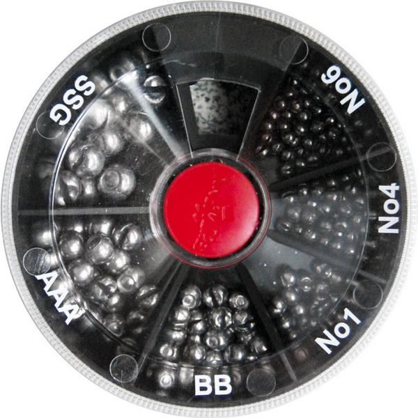 Набор грузил Carp Zoom 6 видов ( E-D-106 )Грузила, отцепы<br>Набор грузил  в коробочке с отсеками. В каждом отсеке находятся свинцовые грузики разного веса.<br>
