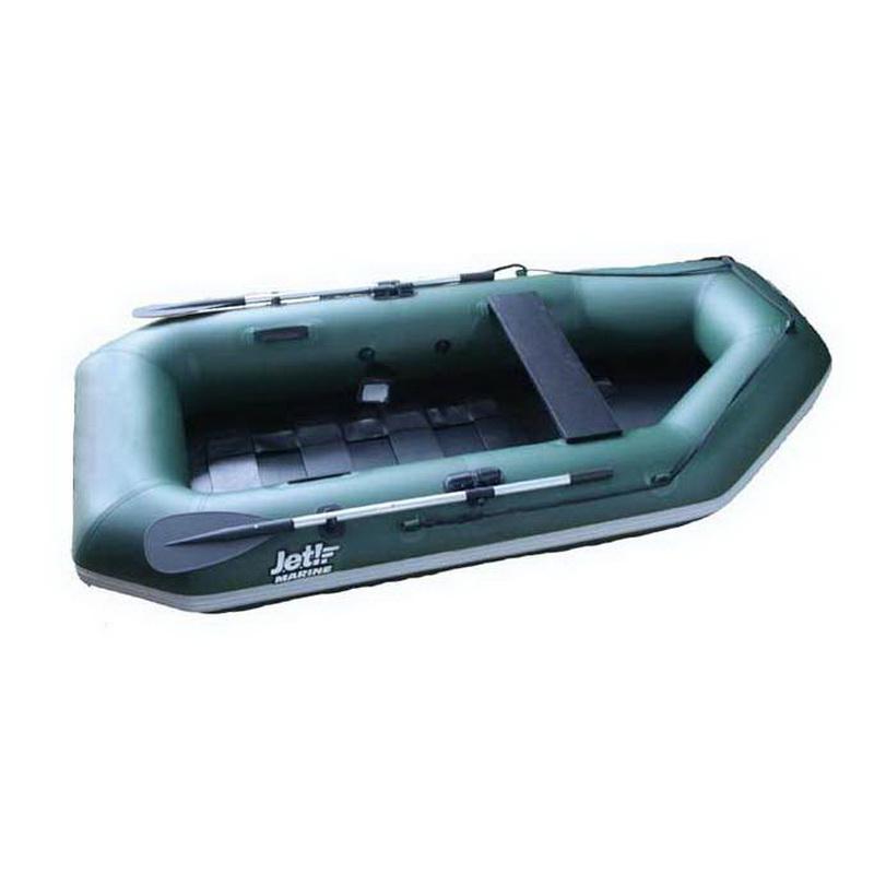Лодка jet! надувная, модель Murray-2 230 (без транца) S/L, цвет зеленыйГребные лодки<br>Гребная лодка jet MURRAY-2 со съемным навесным транцем под мотор небольшой мощности.<br>