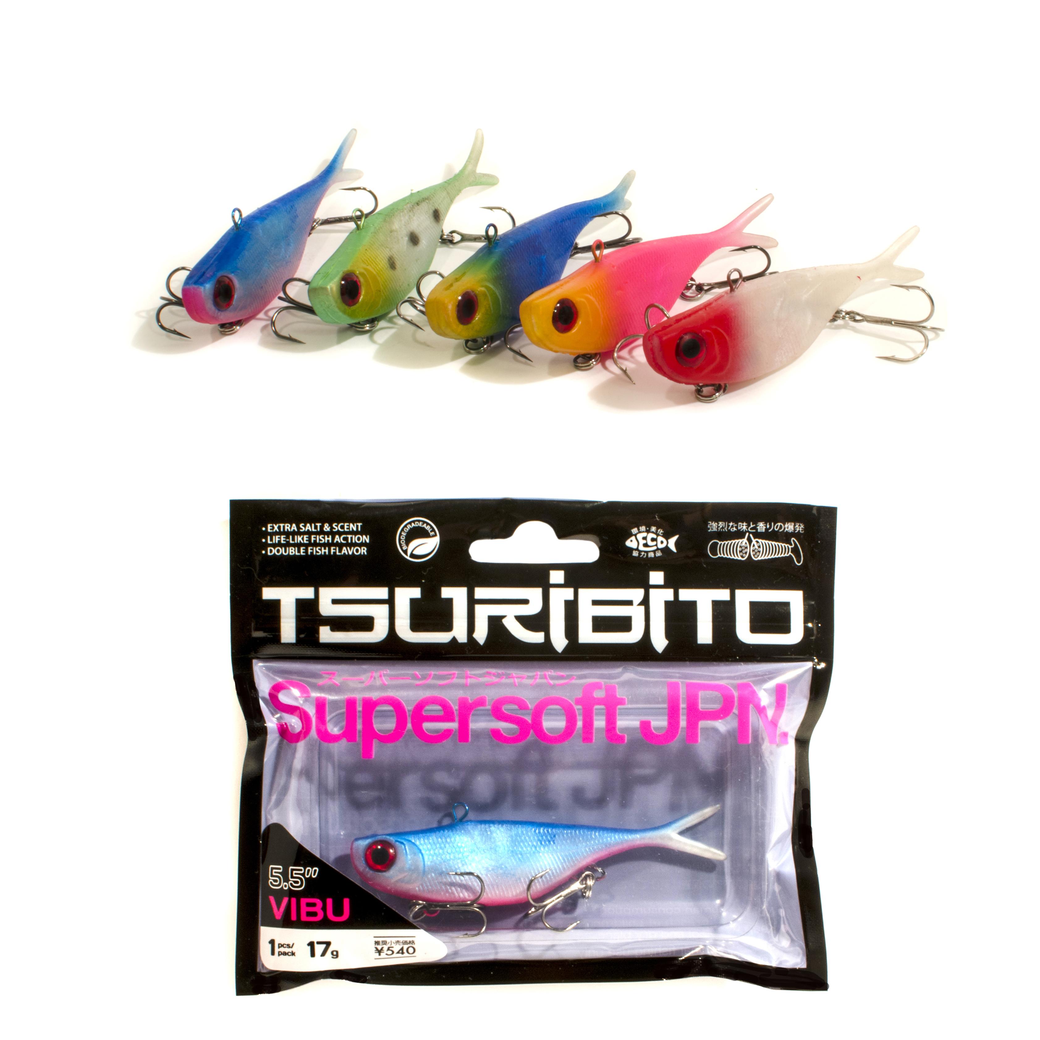 Приманка Tsuribito Supersoft Vibu 3.5Мягкие приманки<br>Новая линейка мягких приманок от бренда Tsuribito<br>