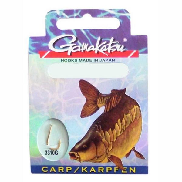 Крючки рыболовные Gamakatsu Hook BKG-3310G Carp 60 CM 140127 00400Одинарные крючки<br>Модель крючка предназначена для ловли карпа, с поводком и насадкой. Изготовлен изх высокопрочной закаленной стали, острие загнуто внутрь.<br>