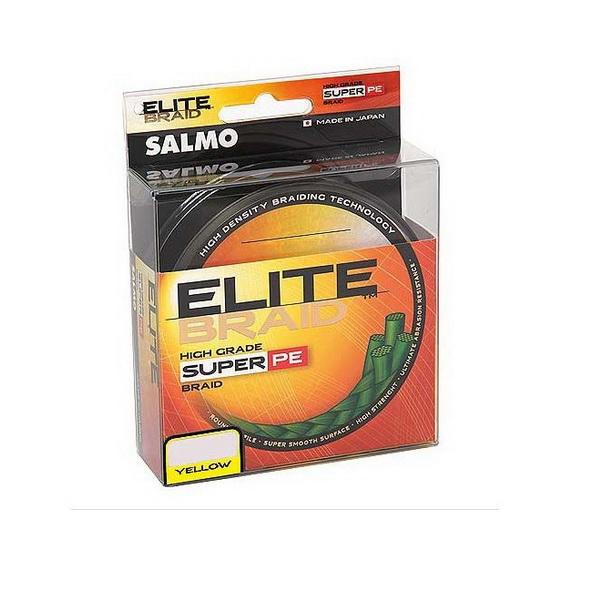 Леска плетеная Salmo Elite Braid Yellow 125м, #0.24  (78904)Плетеные шнуры<br>Качественная плетеная леска круглого сечения. Леска обладает высокой чувствительностью и обеспечивает постоянный контакт с приманкой.<br>
