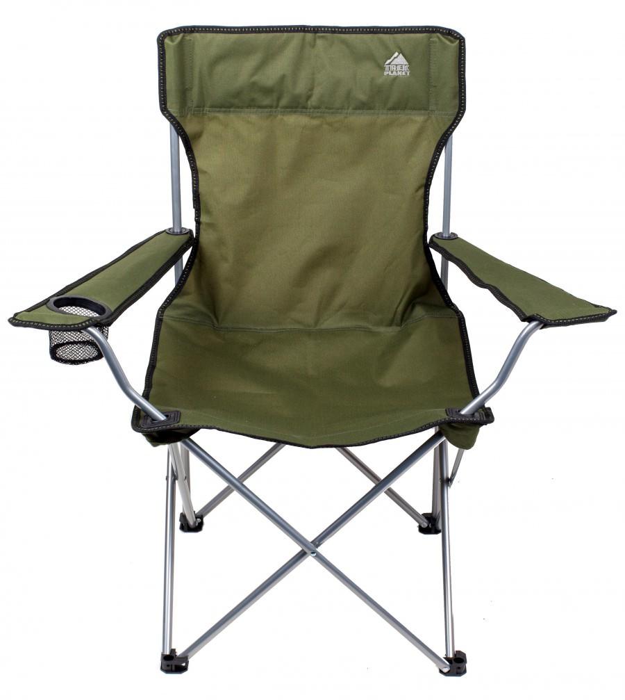 Кресло складное TREK PLANET среднее GreenСтулья, кресла складные<br>Складное кресло TREK PLANET предназначено для использования на природе, дома, охоте, рыбалке.<br><br>- Удобное сиденье<br>- Высокая спинка<br>- Очень легкое <br>- Широкие подлокотники<br>- Держатель для бутылок<br>- Прочный материал<br>- Защита от УФО<br>- Быстро сохнет<br>-...<br>