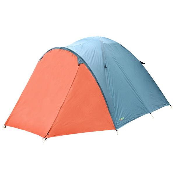 Палатка Holiday 4-х мест. Tuvalu 4Палатки<br>Четырехместная куполообразная палатка с водостойким тентом. Материал палатки имеет нейлоновое покрытие, которое обеспечивает дополнительную защиту.<br>