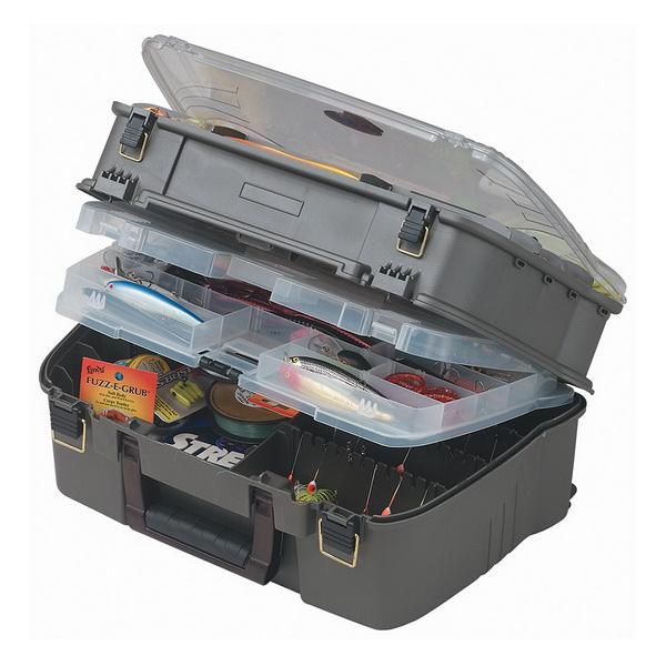 Ящик Plano 1444-02Ящики<br>Ящик для рыболовных принадлежностей, выполнен из ударопрочного пластика, с надежными запорами.<br>