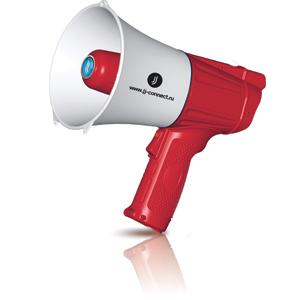 Мегафон JJ-Connect Megaphone M-100 красно-белый