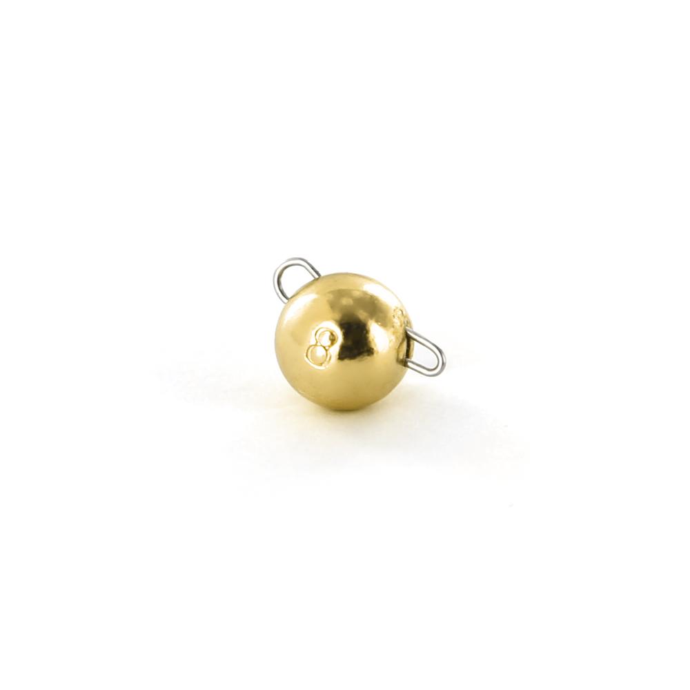 Чебурашка вольфрамовая Tsuribito Tungsten Weights Calibrated Jig Sinker, 8 г, 3 шт., цвет золото (93515)Джигголовки, Чебурашки<br>Материал: вольфрам<br>