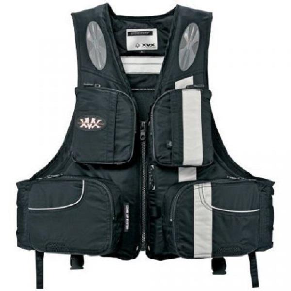 Жилет Daiwa плавающий XVX XF - 6113 Black L / 04535281  (21507)Спасательные жилеты <br>Спасательный жилет серии XVX Barrier Tech. Мембранный ветрозащитный материал Barrier Tech с хорошими «дышащими» характеристиками. Дополнительный карман с платформой для крепления ретривера.<br>