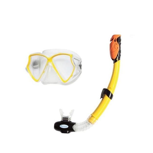 Набор Intex Маска с трубкой Silicone Aviator Pro 55960Подводное плавание<br>Набор Intex 55960 состоит из силиконовой маски 55980 и трубки 55923. Безопасные поликарбонатные линзы со специальным покрытием предотвращает запотевание. Ободок линз выполнен из силикона, а прочные ремешки обеспечивают плотное прилегание маски. Трубка для...<br>