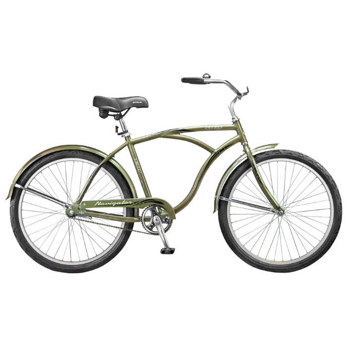 Велосипед Stels Navigator 130 26Велосипеды Stels<br>Этот круизёр имеет широкий руль, удобное большое седло, полноценную защиту цепи, крылья, предотвращающие попадание грязи.<br>