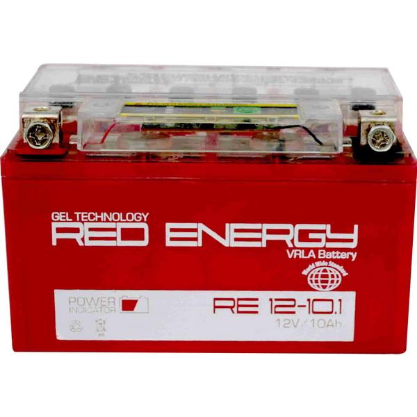 Аккумулятор Red Energy RE 12-10.1Аккумуляторы<br>Аккумулятор с напряжением 12V, предназначенный для использования в дизельных генераторах, мотоциклах, водных мотоциклах и другой технике.<br>