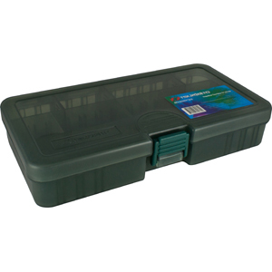 Коробка Tsuribito TF1833DКоробки<br>Удобная пластиковая коробка Tsuribito для хранения и транспортировки приманок. Коробка имеет 8 съемных перегородок и одну фиксированную, перегородки позволяют изменять размер каждого отделения. Размер  18,6 х 10,3 х 3,4см.<br>