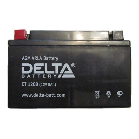 Аккумулятор Delta СТ 1208Аккумуляторы<br>Аккумулятор не требуtт дополнительного технического обслуживания, защищен от протечки кислоты, разработан для использования в любом положении и в широком диапазоне температур от -20C до + 50C.<br>