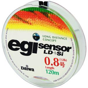 Леска Daiwa Egi Sensor LD + Si #0.8-120 (25114)Плетеные шнуры<br>Технология Evo Silicone уменьшает коэффициент динамического торможения  на 20%, способствует более дальним забросам.<br>