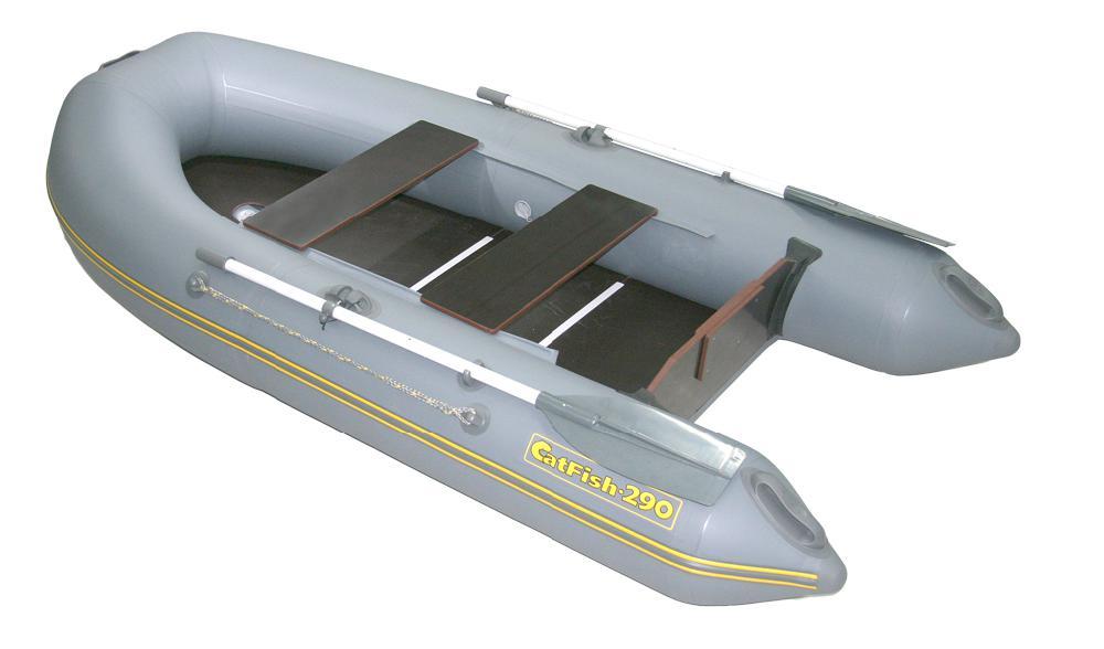 Надувная лодка Корсар CatFish -290 темно-серый (94607)