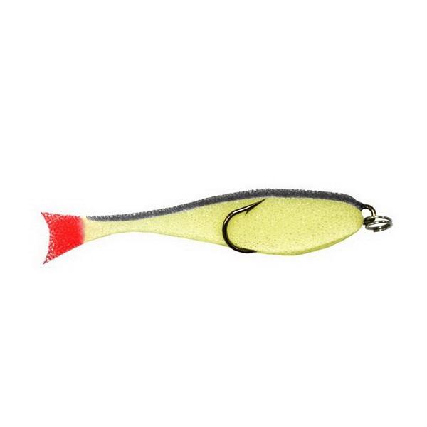 Приманка Контакт поролон. рыбка (двойник),8 см желто-черн (79399)Поролонки<br>Поролоновые рыбки  двойник  производятся по методу «резки».<br>