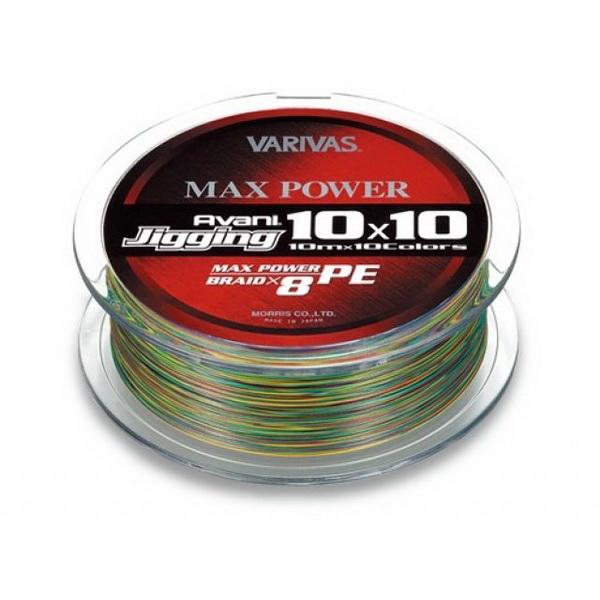 Леска плетеная Varivas Avani Jigging 10x10 Max Power (8 Braid), 200M #0.6 разноцветная 200м (73996)Плетеные шнуры<br>Шнур разработан в 2013 году, и может считаться новинкой, обладает высокой чувствительностью и повышенной прочностью к истиранию и на растяжение.<br>
