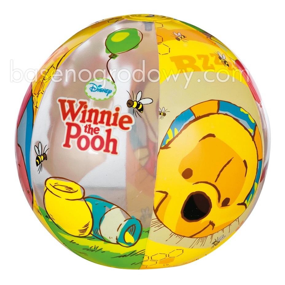 Мяч Intex надувной мяч &amp;amp;quot;Винни&amp;amp;quot;, 61 см 58056Надувные мячи<br>Мяч изготовлен из прочного винила, поэтому он устойчив к повреждениям, истиранию, выгоранию и агрессивным средам.  Для малышей лучше всего подходит надувной мяч, ведь он гораздо легче и удобнее резинового. Изображение всем известного героя детского мультф...<br>