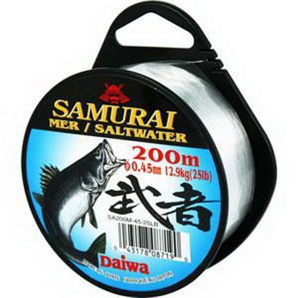 Монолеска Daiwa Samurai Saltwater  0,40 - 200 M (19023)Монофильные лески<br>Японская леска, супермягкая. Сделана из нейлона премиального класса, имеет белый цвет.<br>
