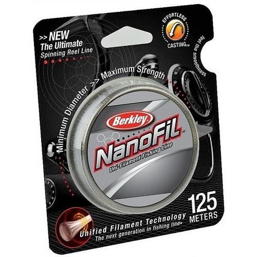 Монолеска Berkley NanoFil Clear 125m #0.08 0.0912mm (49432)NanoFil<br>Ультратонкая леска, которой практически нет равных. Технология молекулярной связи между волокнами позволяет при ее диаметре держать рекордные нагрузки!<br>