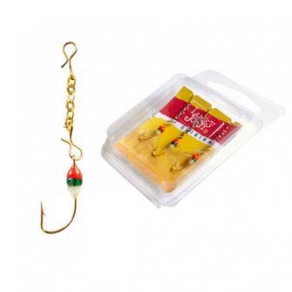 Оснастка Lucky John цепочная Chains с подв. кр. 25мм/G 3шт. (67980)Блесны<br>Необходимая мелочь на рыбалке, с помощью которой можно с легкостью предотвратить запутывание и закручивание лески. Заводное кольцо изготовлено из упругой стальной проволоки.<br>