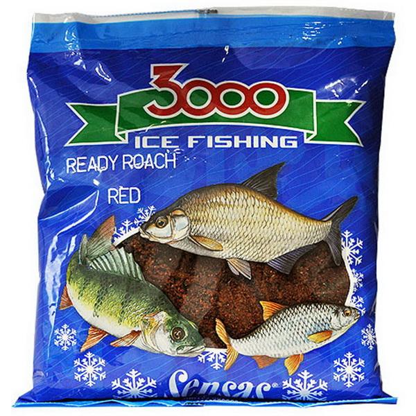 Прикормка Sensas зимняя готовая 3000 Roach Red 0,5кг