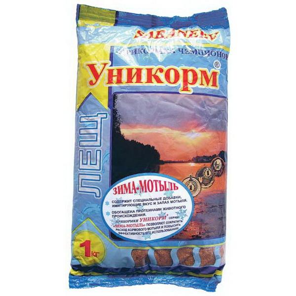 Прикормка Уникорм Зима Лещ-Мотыль (1 кг)Прикормки<br>Универсальная зимняя прикормка. В ее состав добавлены протеины растительного происхождения<br>